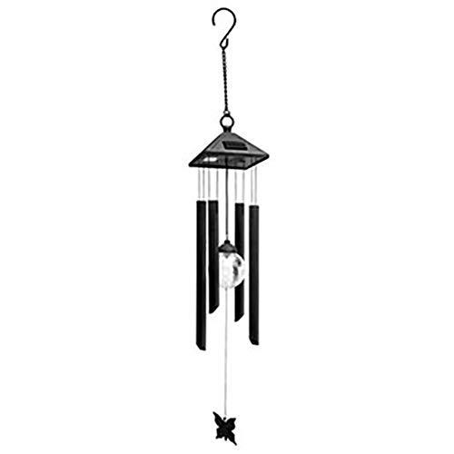 Windspiele Solarbetriebene Farbwechsel LED Glaskugel, Wind Bell Licht Hängelampe für Patio Yard Garden Home - 400 Dekorative Akzente
