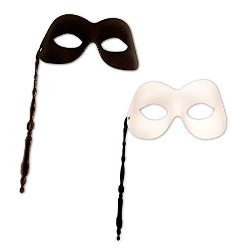 rgnette Venezianische Stab Maske Ball Maske Schwarze Stabmaske Faschingsmaske Karnevalsmaske Ballmaske ()