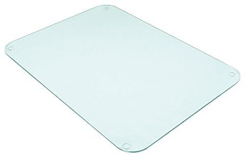 Grande planche à découper en verre pour protéger le plan de travail Transparent givré