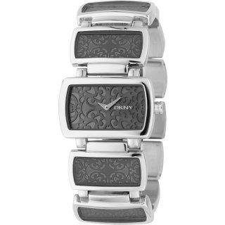 DKNY Stainless Steel Ladies Grey Dial with Silver & Grey Bracelet Watch