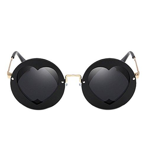 Republe Kinder Mädchen Jungen Polarisierte Sonnenbrille Brillen UV400 Schutz Runde geformte Herz Dekor Outdoor Kids Brillen