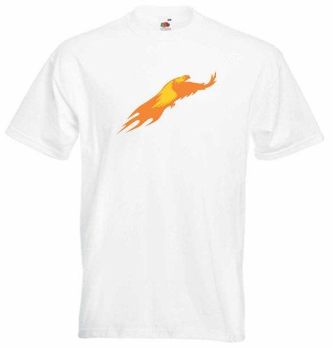 T-Shirt Herren fliegender Adler Weiß