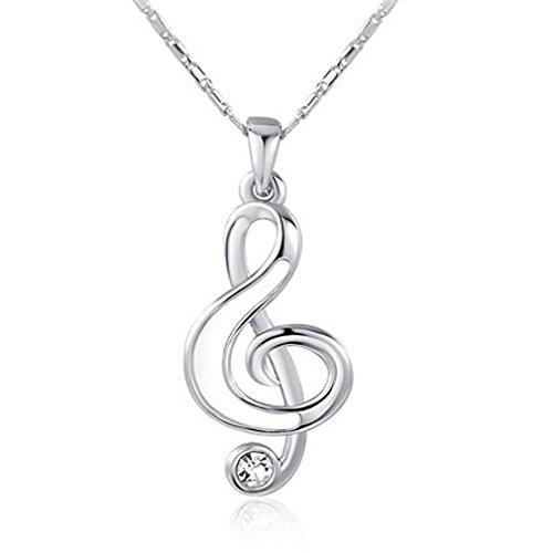 Notas musicales blanco collares para las chicas sea para Mujer Regalo perfecto 45 cm cadena