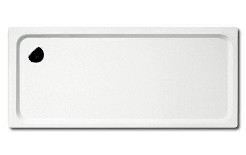 Preisvergleich Produktbild Kaldewei Superplan Rechteck Duschwanne weiß 80 x 100 x 2,5 cm 447248040001 inkl. Styroporträger / Wannenträger, Ablaufgarnitur:mit Viega Ablaufgarnitur flach