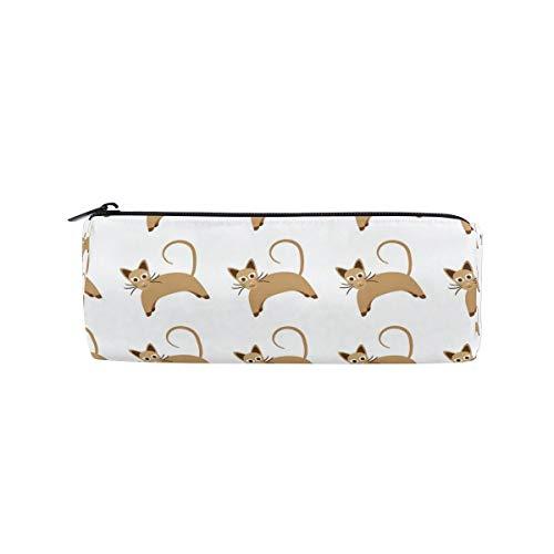 Dog Pattern Zipit Cute Pencil Cases School Pen Organizer Holder Womens Makeup Bag ()