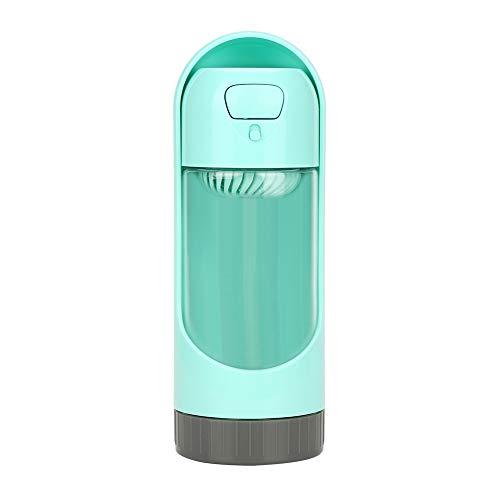 Qiterr Haustier-Wasser-Flasche, Moderne Hundespender-tragbare Reise-Welpen im Freien, die Flaschen Trinken(Bottle-Grün)