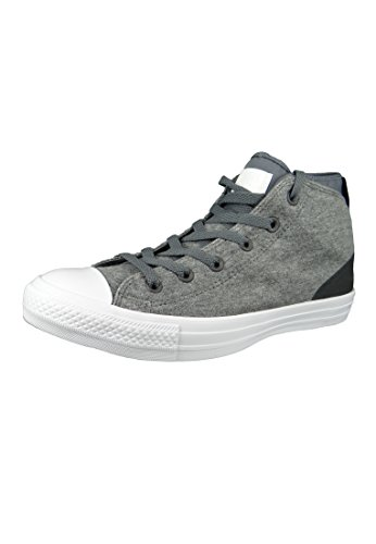 Converse 9 All Herren-größe Star (Converse Chucks 159546C Grau Chuck Taylor All Star Syde Street Mid Gray Thunder White, Groesse:42.5 EU/9 UK/9 US/27.5 cm)