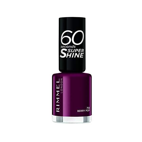 Rimmel London 60 Seconds Super Shine #712-Berry Pop – 1 unidad