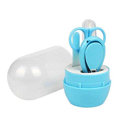 Andux Zone Baby-Maniküre-Set 4-in-1-Baby-Pflegeset Baby-Nagelpflege-Set für Neugeborene YEZJJ-01 (Blau) 4-zonen-kit