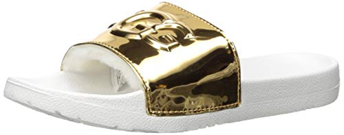 UGG Damen - Pantoletten ROYALE GRAPHIC METALLIC - gold, Größe:42 EU