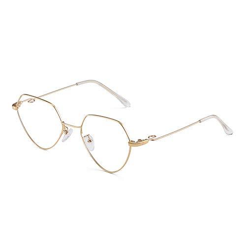 JM Mode Herz RX-fähig Brillen Metall Draht Optische Gläser Rahmen für Damen Gold