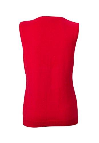 James & Nicholson Damen V-Neck Pullunder Rot (Red)