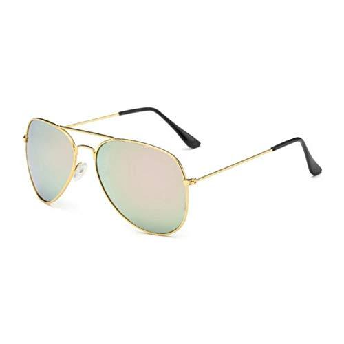 Taiyangcheng Frauen-Pilotinnen-Sonnenbrille-Metallrahmen-Flieger-Sonnenbrille für Männer,Rosa