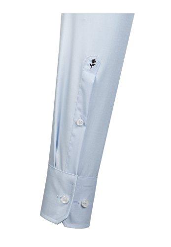 Seidensticker Herren Businesshemd Modern Langarm mit Kent-Kragen, bügelfrei, Blau (Hellblau/48)