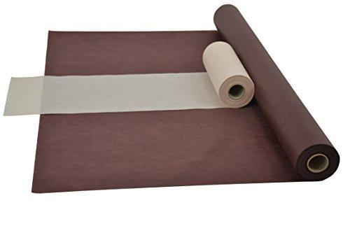 Sensalux Kombi-Set 1 Tischdeckenrolle 1m x 25m + Tischläufer 30cm (Farbe nach Wahl) Rolle braun Tischläufer creme