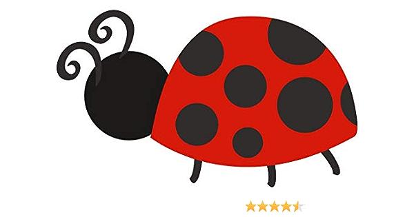 Samunshi Kleiner Marienkäfer Aufkleber Sticker Autoaufkleber Scheibenaufkleber In 8 Größen 15x9cm Mehrfarbig Küche Haushalt