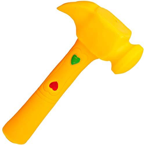 alles-meine.de GmbH Gummihammer / Softhammer / Hammer - Quietscher -  gelb  - BPA frei ! - Quietschtier - Spielzeughammer weicher Gummi Babyhammer / Kinderhammer - weich Babysp..
