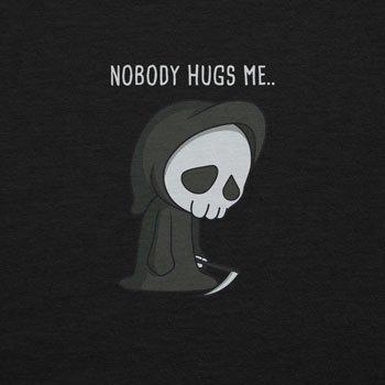 Planet Nerd - Nobody Hugs Me - Herren Kapuzenpullover Schwarz