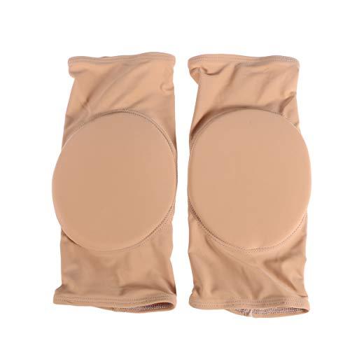 Preisvergleich Produktbild Healifty Elastic Protective Knieschützer Atmungsaktive Ärmel Brace Sport Kniebandage Thicked Foam Pad für Kinder Erwachsene Skating Radfahren Skifahren Outdoor-Sportarten (Hautfarbe Größe L)