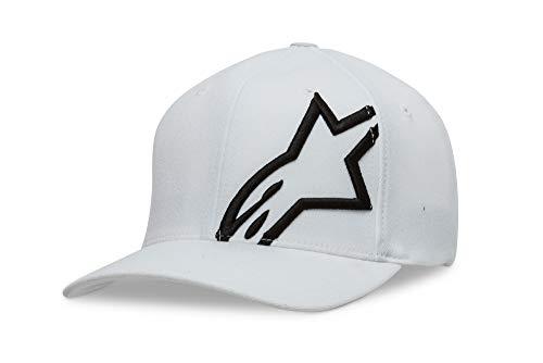 Imagen de alpinestar corp shift 2 flexfit  flexfit visera curva logo bordado 3d, hombre, white/black, s/m