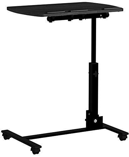 Display4top Portatile Tavolo Porta Laptop su Ruote per Letto e Divano, Nero, Regolabile in Altezza con Piattaforma per Mouse,90x56x39cm