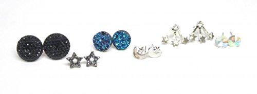 Lux accessori Moon Star Orecchini Set (12pezzi)