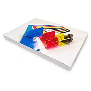 20 Sheets Inkjet Printable A4 Clear/Transparent Vinyl Glossy Self Adhesive Sticker Quality