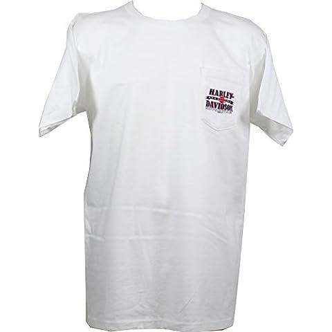 Harley-Davidson - Camiseta - para hombre blanco blanco large