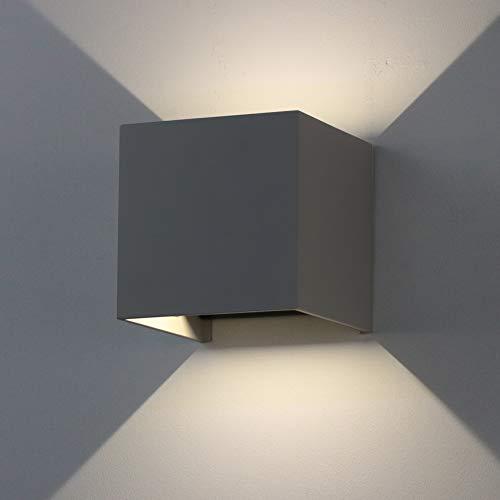 K-Bright 12W LED Außenwandlampen, Auf und ab Einstellbarer Lichtstrahl,IP65, Natürliches Weiß, dekorative Innenwandlampen,1 Stück