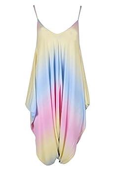 55d1056b63c Be Jealous Ladies Baggy Italian Drape Lagenlook Womens Strappy Sleeveless Playsuit  Jumpsuit