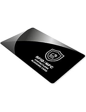 Protectores de tarjetas de crédito, RFID y NFC Bloqueo - SmartProduct Card Shield - tarjeta de bloqueo de escáner...