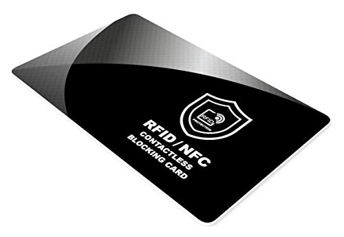 Protezione RFID per Carte di Credito Contactless - Scheda di Blocco RFID & NFC - Proteggi Carta di Debito, Passaporto, Documento d'identità - per Portafoglio da Uomo e Donna - 1 pezzo
