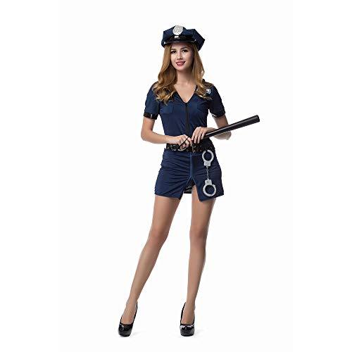 LVLUOYE Rolle Spielen Blaue Police Uniform, Halloween Polizei spielt ()