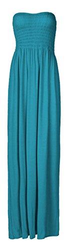 Fast Fashion Damen Maxi Kleid Plus Größe Plain Umführungsvorrichtung Bandeau (Maxi Casual Kleid)