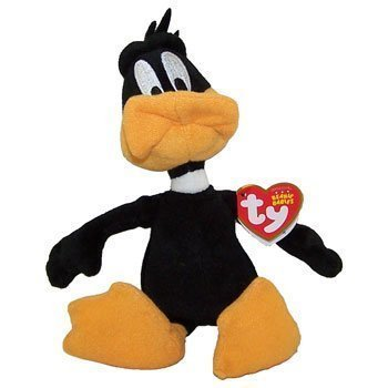 ty-beanie-baby-peluche-di-daffy-duck-walgreens-exclusive-9-cm