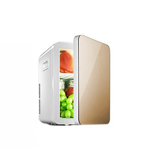Yuany 6L Mini-Kühlschrank, niedriger Energieverbrauch Haushaltskühlschrank, umweltfreundliche Kühlung Kleiner,Gold,6L
