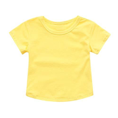 Zeside (1-4 Jahre Kinder kurzärmelig Rundhalsausschnitt einfarbig T-Shirt Top Kleinkind Cosplay Kostüm Zuhause Alltag Kleid Party Geburtstag Halloween Gr. 80 cm, - Fett Kostüm Für Kleinkind