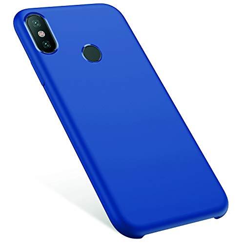 MoreChioce kompatibel mit Xiaomi MI Mix 2S Hülle,kompatibel mit Xiaomi MI Mix 2S Handyhülle,Kratzfest TPU Flexible Weiche Flüssige Silikon Crystal Schutzhülle Stoßfest Bumper,Dunkelblau,EINWEG Crystal Case-mix-tier