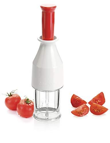 Tescoma 643557 Affetta Pomodorini, Acciaio Inossidabile, Bianco/Trasparente