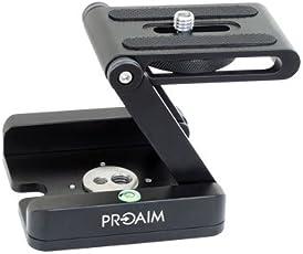Proaim MS-037-00 DSLR Camera Foldable Z Tripod Flex Pan Tilt Ball Head Portable Desktop Stand