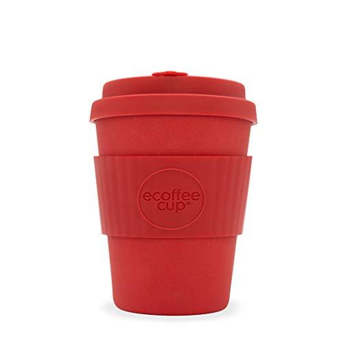 Ecoffee Cup Red Dawn 340,2 gram/340 ML Orange Vif | réutilisable en Bambou Tasse à café