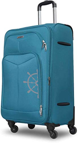 NOVEX Canyon Polyester Soft -Sided Luggage Trolley (Sky Blue)