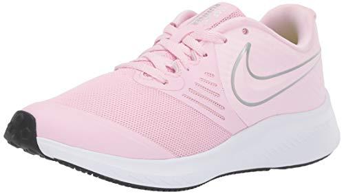 Nike Unisex-Kinder Star Runner 2 (GS) Sneaker, (Pink Foam/Metallic Silver-Violet 601), 39 EU -