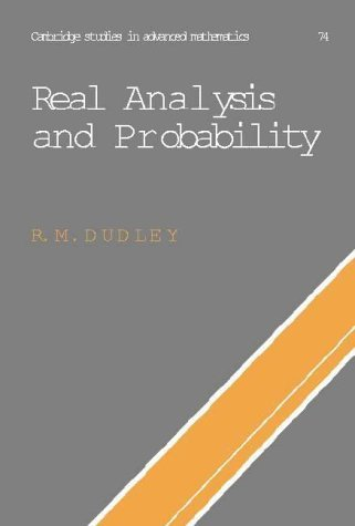 Real Analysis and Probability (Cambridge Studies in Advanced Mathematics) by R. M. Dudley (2002-10-14)
