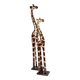 Giraffen aus Holz 2 er SET 100 cm 80 cm Holz Giraffe Afrika Tierfigur Dekoartikel Skulptur