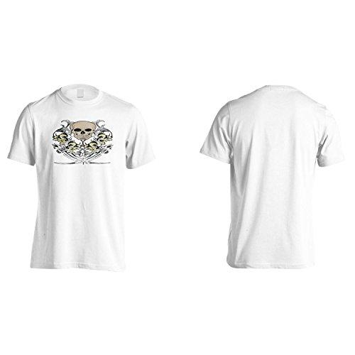 Cranio E La Spada D'Arte Novità Epoca Uomo T-shirt pp15m White