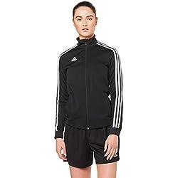 Adidas Tiro19 TR Chubasquero Deportivo Para Mujer Color Black/White Talla L