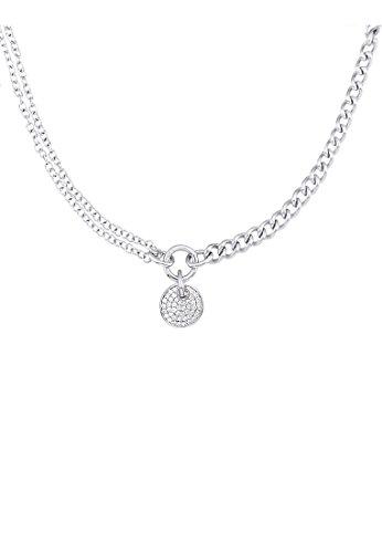 JETTE-Silver-Damen-Collier-CHAIN-REACTION-925er-Silber-46-Zirkonia-silber-One-Size