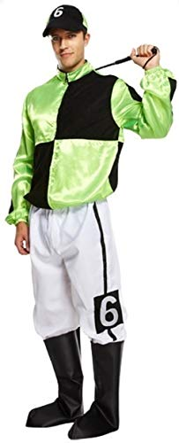 MENS JOCKEY FANCY DRESS COSTUME STD by Henbrandt