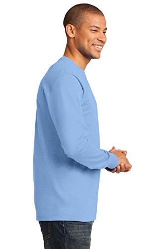 Port & Company Herren ist groß lang Sleeve Essential T Shirt Hellblau